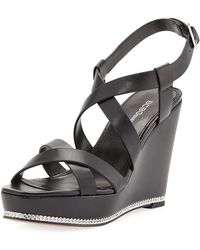 BCBGeneration - Janice Strappy Wedge Sandals - Lyst