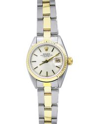 Rolex - Pre-owned 26mm Oyster Perpetual Two-tone Watch - Lyst