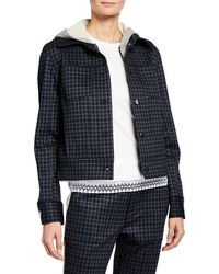 Laundry by Shelli Segal - Long-sleeve Plaid Cropped Jacket - Lyst