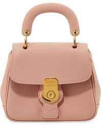 Burberry Trench Small Leather Top Handle Bag Light Pink