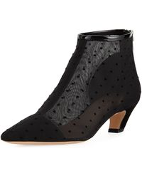 Dior - Pretty Plumetis Point-toe Booties - Lyst