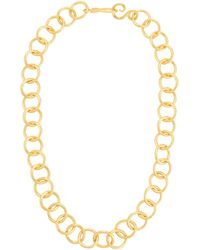 Stephanie Kantis Circle-link 24k Gold-plated Necklace - Metallic