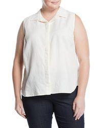 NYDJ - Vera Sleeveless Button-front Blouse Plus Size - Lyst