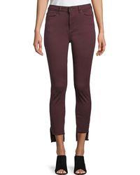 DL1961 Chrissy Step-hem Skinny Jeans - Red