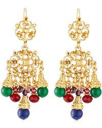 Jose & Maria Barrera - Jeweled Filigree Drop Earrings - Lyst