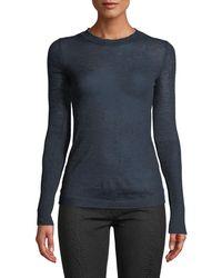 Leon Max Wool-blend Lightweight Long-sleeve Sweater - Blue