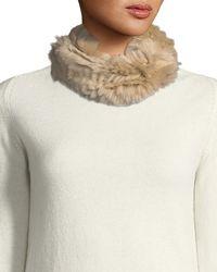 Neiman Marcus | Rabbit Fur Cowl | Lyst