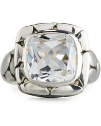 John Hardy - Batu Kali Square White Topaz Ring Size 7 - Lyst