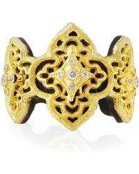 Armenta - Old World 18k Diamond Scroll Ring - Lyst