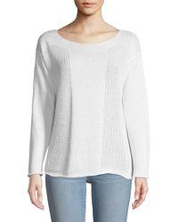 Lafayette 148 New York - Honeycomb-knit Bateau-neck Sweater - Lyst