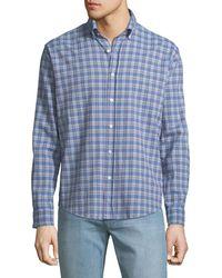 Neiman Marcus - Classic-fit Wear-it-out Plaid Seersucker Sport Shirt - Lyst