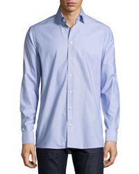 Eton of Sweden - Zigzag Waves Jacquard Sport Shirt - Lyst