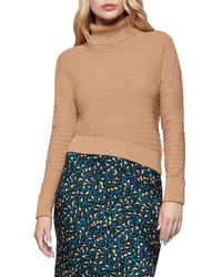 BCBGeneration - Asymmetrical Cotton Sweater - Lyst