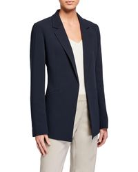 Lafayette 148 New York Luther Open-front Blazer - Blue