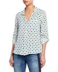 Velvet Heart - Elisa Geometric Pattern-printed Shirt - Lyst