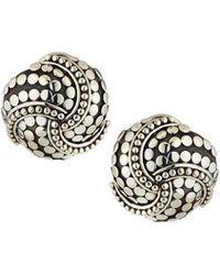 John Hardy - Dot Twirl Round Earrings - Lyst