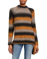 Kensie Tie Side Knit Sweater - Multicolour