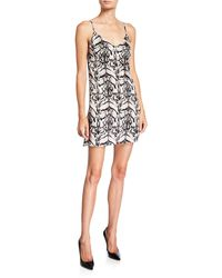 Loyd/Ford Tiger Silk Mini Slip Dress - Black