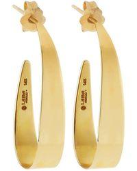 Lana Jewelry - 14k Small Narrow Gloss Hoop Earrings - Lyst