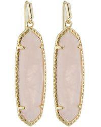 Kendra Scott - Layla Drop Earrings Rose Quartz - Lyst