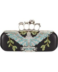 Alexander McQueen - Crystal Dove Knuckle Box Clutch Bag - Lyst