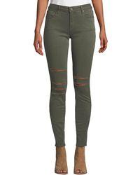 Parker Smith - Kam Mid-rise Slashed Skinny Jeans - Lyst