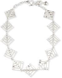 Lulu Frost Cascadia Pine Riviera Necklace W/ Crystals - Metallic
