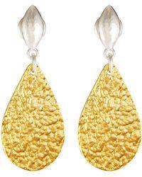 Gurhan - Pear Flake & Wheat Post Earrings - Lyst
