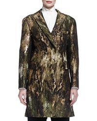 Donna Karan - Jacquard Sculptd Belted Coat - Lyst