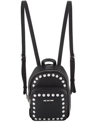 Love Moschino - Studded Leather Backpack - Lyst