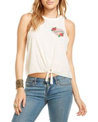 Chaser - Sorry I Can't Tie-front Muscle Tee - Lyst