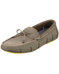 Swims - Mesh & Rubber Braided-lace Boat Shoe - Lyst