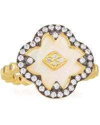 Freida Rothman - Mother-of-pearl Clover Harlequin Ring - Lyst