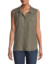 NYDJ - Sleeveless Button-back Shirt - Lyst