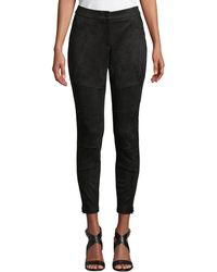 Laundry by Shelli Segal - Faux-suede Skinny Moto Pants - Lyst