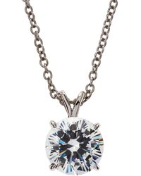 Fantasia by Deserio - Round-cut Cz Necklace - Lyst
