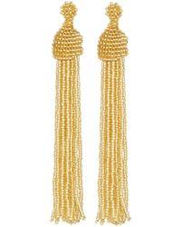 Kenneth Jay Lane | Seed Bead Tassel Earrings | Lyst