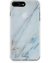Casery Luxe Marble Phone Case For Iphone 6 Plus/6s Plus/7 Plus/8 Plus - Blue