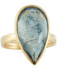Ippolita - 18k Rock Candy® Medium Teardrop Ring W/ Topaz & Labradorite Doublet - Lyst