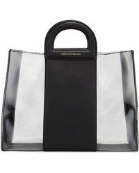 Christian Siriano Regina Faux-leather Clear Satchel Bag - Black