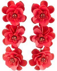 Lydell NYC - Triple Flower-drop Earrings - Lyst
