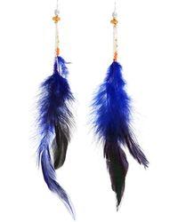 Nakamol - Long Feather Dangle Earrings - Lyst
