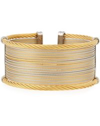 Alor - Classique Wide Steel & 18k Cuff Bracelet - Lyst