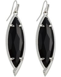 Kendra Scott Maxwell Statement Drop Earrings Black Glass
