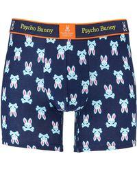 Psycho Bunny Men's Fashion Knit Logo-print Boxer Briefs - Blue