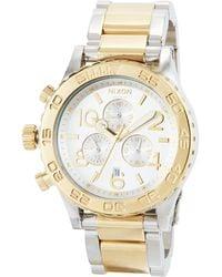 Nixon - 42mm 42-20 Chrono Bracelet Watch - Lyst