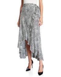 Nanette Nanette Lepore Leopard Print High-low Wrap Skirt - Multicolor