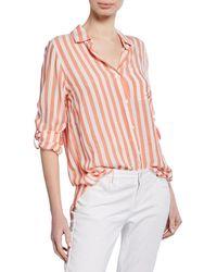 Velvet Heart - Elisa Striped Shirttail Shirt - Lyst