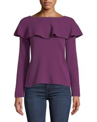 Quinn - Off-the-shoulder Flare-sleeve Pullover Sweater - Lyst