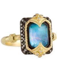 Armenta - 18k Emerald-cut Triplet & Diamond Ring - Lyst